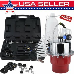 Pneumatic Air Pressure Bleeder Tool Set Automotive Hand Tools Warehouse Garage Y