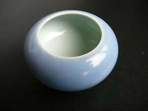 Chinese Antique Tripod Celeste Lavender Blue Porcelain Brush Washer Bowl