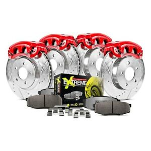 For Ford Mustang 94 98 Brake Kit Power Stop 1 Click Street Warrior Z26 Drilled