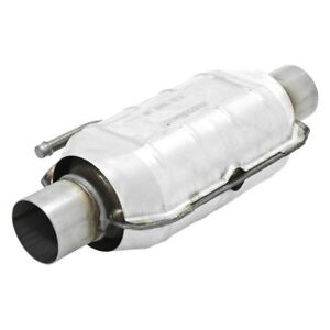225 Series Universal Fit Oval Body Catalytic Converter 2 Id 2 Od 16 Length