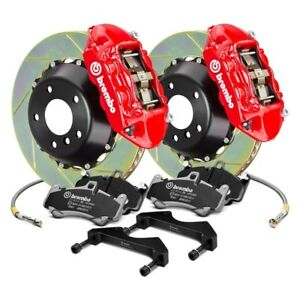 For Bmw 330ci 01 05 Brembo Gt Series Slotted 2 Piece Rotor Rear Big Brake Kit