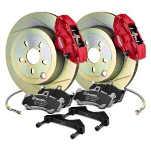 For Subaru Brz 13 17 Brembo Gt Series Slotted 1 Piece Rotor Rear Big Brake Kit