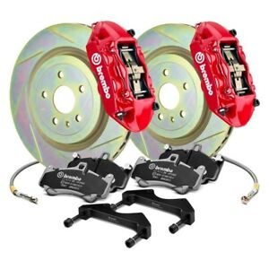For Scion Fr s 13 16 Brembo Gt Series Slotted 1 piece Rotor Front Big Brake Kit