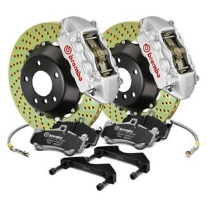For Volkswagen Cc 16 Gt Series Cross Drilled 2 Piece Rotor Front Big Brake Kit