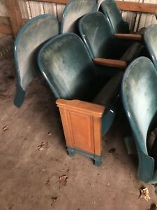 Lot Of 200 Used American Seating Chairs From A Church Drilled For Book Holder