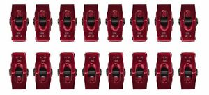 Small Block Chevy Aluminum Roller Rocker Arms 3 8 Stud Mount 1 5 1 Ratio Red