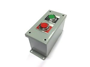 Ge Push Button Enclosure Cr104peg12g 2 Hole Start stop 30 5mm Painted Steel