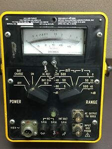 Vintage Us Air Force Voltmeter An usm Ac 413 Volt Meter
