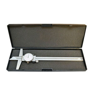 Stainless Steel 8 200mm Inch Metric Dual Reading Dial Caliper Ruler Mechanical