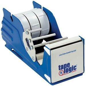 Aviditi Sl7336 Steel Multi Roll Table Top Tape Dispenser 3 Tape Diameter Blue