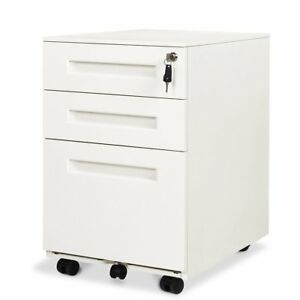 Orford 3 drawer Mobile Pedestal File Cabinet With Lock Legal letter Size