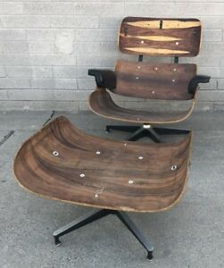 Herman Miller 670 671 Rosewood Eames Lounge Chair And Ottoman Project