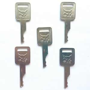 5 Bobcat Melroe Ignition Keys For Skid Steer Loaders Mini Excavators 6693241