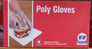 Royal Poly Gloves 500 1 box Disposable Gloves Non sterile