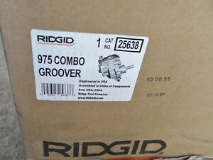 Ridgid 25638 975 Roll Groover Manual Or Machine Mounted