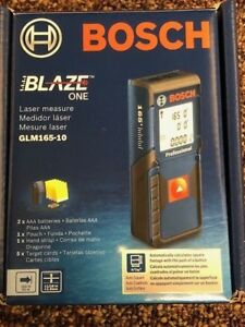 New Bosch Blaze One Laser Distance Measure Glm165 10 Free Shipping Tool 165 Feet
