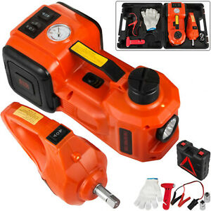 3 In 1 12v Dc 3t Electric Hydraulic Floor Jack Lift Set With Impact wrench