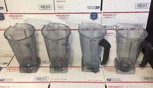 Lot Of 4 Vitamix 64 Oz Containers W blades As Is No Returns Repair Read