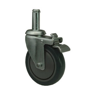 4 Quantum Swivel Stem Casters Poly wr 00h 5in X 1 1 4in 1200 lb Load Capacity