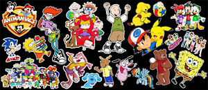 90 S Morning Cartoons Tribute Vinyl Sticker Bundle