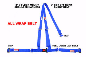 All Wrap Harness 2 Seat Belt 3 Pt B T Y Harness Blue 30 Colors To Choose From