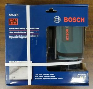 Bosch Gpl5r 5 point Self leveling Alignment Laser Brand New Free Shipping
