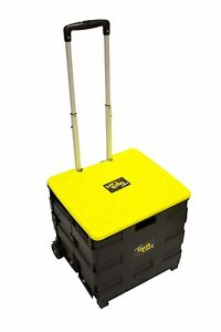 Lightweight Two wheeled Collapsible Quick Handcart With Lid Rolling Utility Cart