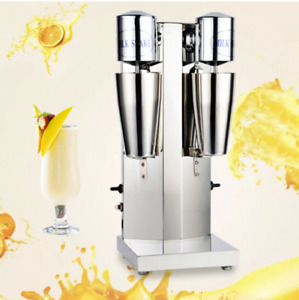 110v Commercial Stainless Steel Milk Shake Machine Double Head Drink Mixer