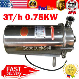 3t h Stainless Steel Food Sanitary Grade Centrifugal Pump Sanitary Beverage 750w