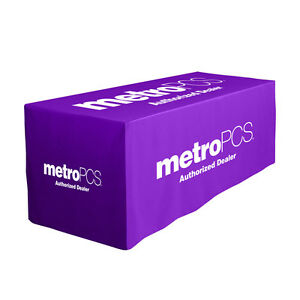 Metro Pcs Purple Fitted Table Cloth
