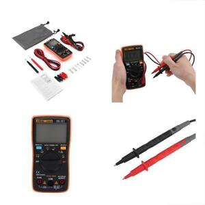 Digital Multimeter Autoranging aneng An8008 True rms Leads Probes Alligator For