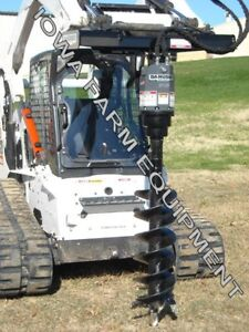 Hydraulic Post Hole Digger Auger Drive skidsteer Q a danuser Ep15