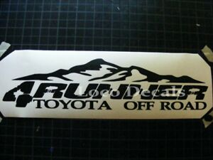 Toyota 4runner 4x4 Off Road Car Decal Sticker