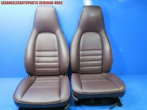 Porsche 911 964 944 951 968 Front Seats Power Perpetrated Burgundy Pair Left Rig