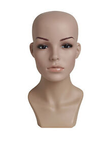 Female Plastic Mannequin Head Height 13 Head Circumference 21