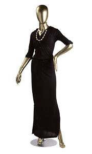 Female Gold Fiberglass Mannequin Height 5 10 With Base