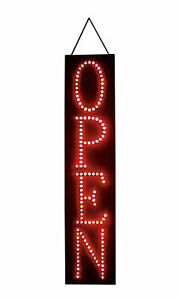 Vertical Led Open Sign