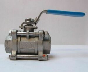 Pinacle 1000 Wog 1 316 Full Port Ball Valve Vinyl Handle Stainless Steel 1 1 6
