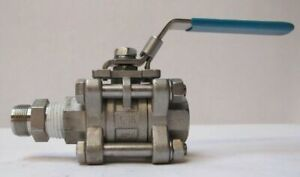 Pinacle 1000 Wog 1 2 316 Full Port Ball Valve Vinyl Handle Stainless Steel