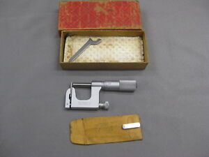 Starrett No 220 Mul t anvil Micrometer With Round And Flat Anvil