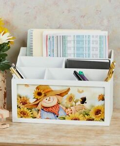 New 4 Seasons Wood Interchangeable Desktop Office Desk Storage Holder Organizer