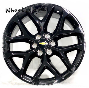 22 Inch Gloss Black 2018 2017 Snowflake Chevy Silverado Oe Replica Wheels 6x5 5