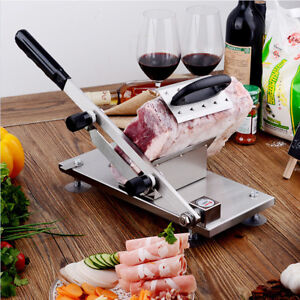 Manual Stainless Steel Frozen Meat Slicer Beef Slicing Machine Portable