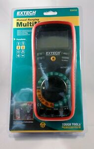 Extech Ex410 Manual Ranging Digital Multimeter With Type K Probe Thermomer