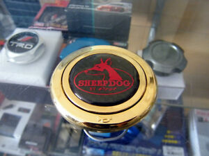 New Jdm Imported Sheep Dog Carbon Center Horn Button Momo Sparco Atc Personal