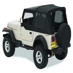 Bestop Replace A Top Black Denim Soft Top For 1988 1995 Jeep Wrangler