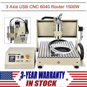 3 Axis Cnc6040 Router Engraver Kit Diy 1500w Usb Milling Drilling Machine Miller
