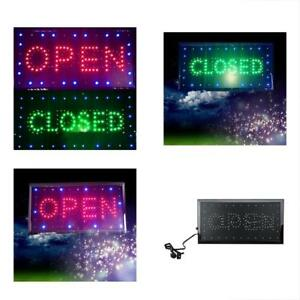 Enshey 2 In1 Open Closed Store Sign Business Windows Neon Led Shop Chain For