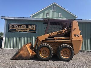 Case 1840 Skid Steer Loader Cummins Diesel Runs Great Cheap Shipping Rates