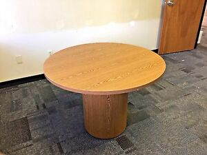 Round Conference Table By Hon Office Furniture 42 d